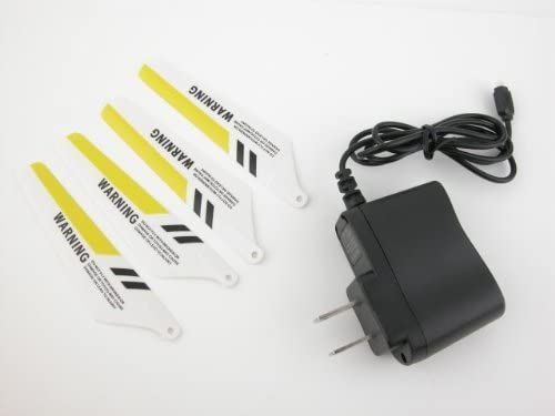 Syma S107 Metal Gyro RC Helicopter Main Yellow Color Blades Set & AC Charger