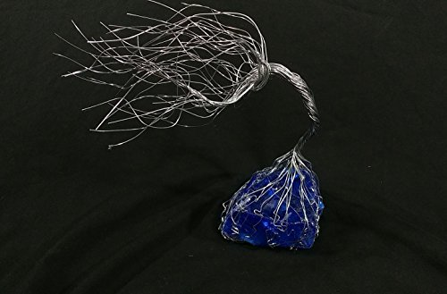 Cobalt Blue Glass & Wire Spirit Tree # 1427 Glass Art Sculpture 7th Anniversary Gift Steampunk Vintage Industrial Christmas Present by Refreshing Art