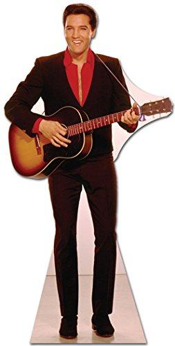 Elvis Presley Cardboard Cutout Standup Red Shirt with Guitar SC241 (Guitar Cutouts)