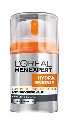 L'Oréal Men Expert Hydra Energy Comfort Max Feuchtigkeitspflege Anti-Trockene Haut, 24h Feuchtigkeitscreme für Männer, 1er Pack (1 x 50 ml)