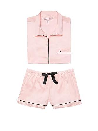 89212c6a3ff Victoria's Secret Women's Satin Boxer PJ Afterhours Pajama Shorts ...