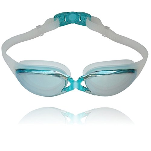 Swimming Goggles From Cobotooz. Mirrored, Anti Fog, Soft Waterproof Silicone Eye Gaskets. Free Case Included. Men and Women Swimmers.