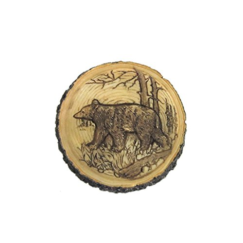 Bear Faux Carved Wood Trinket Box by WonderMolly