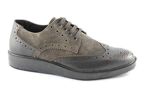 IGI&CO 47712 taupe scarpe uomo eleganti ricamo puntale inglese camoscio 43