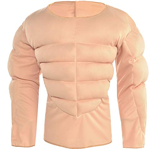amscan Muscle Padding Shirt Halloween Costume Accessory for Kids, Large/Extra Large]()