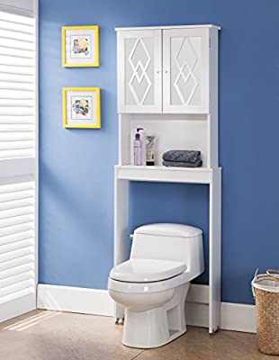 Furniture of America Sindie Over Toilet Space Saver, White
