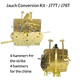 Qwirly Store: J-77T Jauch Conversion Movement Mechanism Kit for Jauch Grandfather - Unit Conversion to Hermle 1151-050.94cm Triple Chime