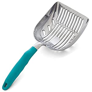 DuraScoop Jumbo Cat Litter Scoop, All Metal End-to-End with Solid Core, Sifter with Deep Shovel, Multi-Cat Tested Accept No Substitute for the Original (colors may vary) 30