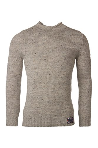 Hawick Knitwear Men's 100% British Wool High Neck Pullover-Skiddaw-Large