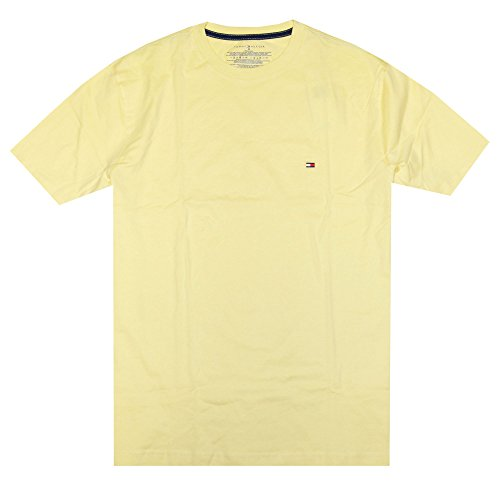 Tommy Hilfiger Mens Classic Fit Crew Neck T-Shirt (Small, Light Yellow)