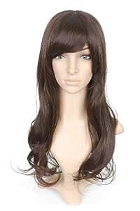 Black Wavy Long Length Anime Costume Cosplay Wig