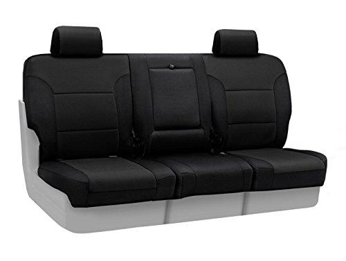 Coverking Custom Fit Center 40/20/40 Split Bench Seat Cover for Select Toyota Sienna Models - Neosupreme Solid (Black)