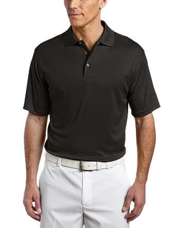 PGA TOUR Men's Short Sleeve Poly Performance Golf Polo, Dark Shadow, Large