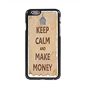 QYF Keep Calm and Make Money Design Aluminum Case for iPhone 6