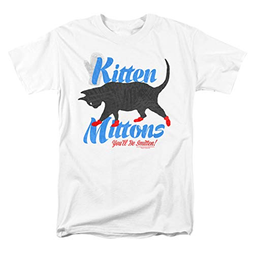 It's Always Sunny in Philadelphia Kitten Mittons T Shirt & Exclusive Stickers (X-Large) White