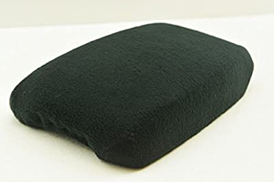 Fits 10-14 JEEP LIBERTY Slide-On FABRIC Console Lid Armrest Cover BLACK (CLOTH).