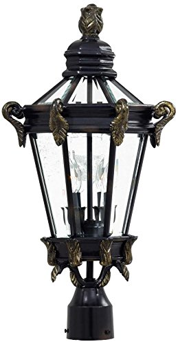 Minka Lavery 8935-95 2 Light Outdoor Post Mount, Heritage with Gold Highlights Finish by Minka Lavery B01IPGXFYS