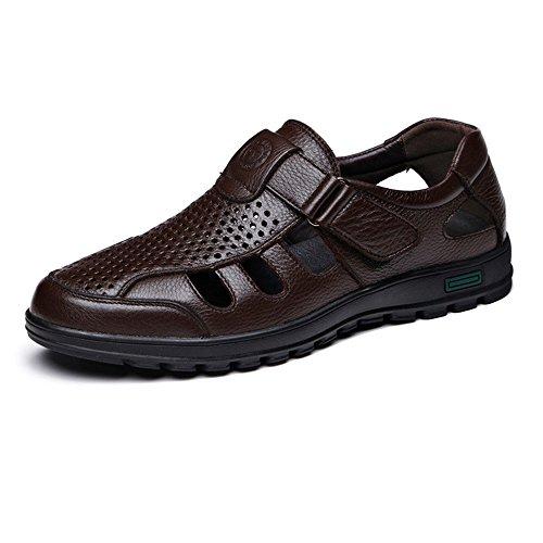 Véritable Color homme Hommes Respirant Juan Perforation shoes Classique Soft on MUS Chaussures vache Mocassin Brown 9 de cuir Slip Cutting Black Sole Size Chaussures supérieur fztzwHqn