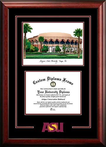 Campus Images AZ994SG Arizona State University Spirit Graduate Diploma Frame with Lithograph Print, 8.5