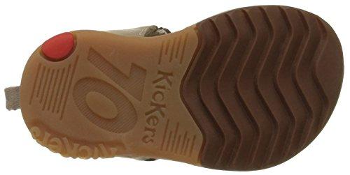 Kickers Plazabi - Zapatos de primeros pasos Bebé-Niñas Marrón - Marron (Marron Foncé/Beige)