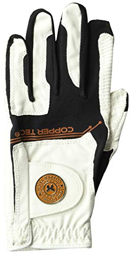 Performance Wear Gloves Tech - Copper Tech Gloves Women's Golf Glove with Spider Tacky Grip, One Size, White/Black