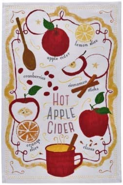Amazon Com Now Designs Tea Towel Hot Apple Cider Home Kitchen