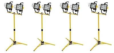 Woods L13 1000-Watt Telescope Worklight, Yellow, 120-Volt (Pack of 4)