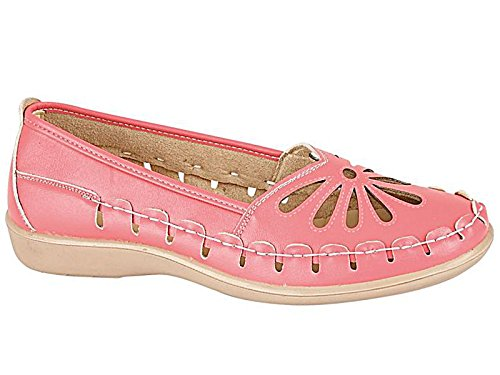 Slip Shoe Casual Taglia Footwear On Summer Ladies Flat Cut Laser Hot Foster 8 Sandal 3 Pink Mocassino 84Awq
