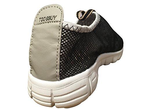 Atmungsaktive Laufsport Tennisschuhe, Beach Aqua, Outdoor, Sportlich, Regnerisch, Skifahren, Übung, Slip on Car Schuhe für Männer und Frauen Grau schwarz