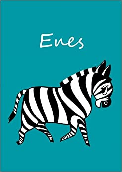 Malbuch / Notizbuch / Tagebuch - Enes: DIN A4 - blanko - Zebra