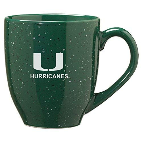 LXG, Inc. University of Miami - 16-Ounce Ceramic Coffee Mug - Green ()