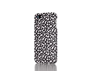 Apple iPhone 4 / 4S Case - The Best 3D Full Wrap iPhone Case - Black and white heart