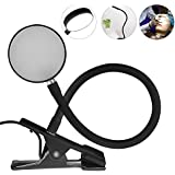 Tattoo Reading Lamp, Portable Permanent Desk Lamp for Makeup Eyebrow and Tattoo with USB plug and Clip(Black)