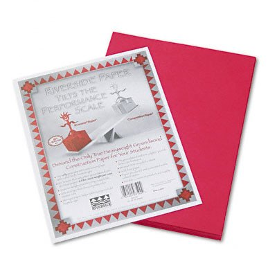 Riverside Groundwood 100% Recycled Construction Paper, 9in.