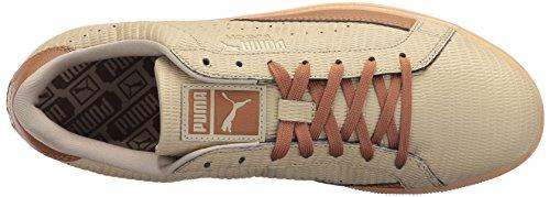 Puma Menns Kamp Preging Lthr Mote Sneaker Blek Khaki / Chipmunk