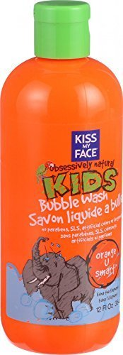 Kiss Kids Obsessively Natural (Kiss My Face Bubble Wash - Orange U Smart - Obsessively Natural Kids - 12 oz - Gluten Free - by Kiss My Face)