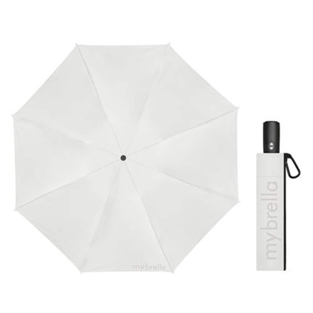 Xb À la Mode Petit Parapluie Pluie Pliable Femmes Poche Hommes Cadeau Mini Parasol Filles Anti-UV imperméable Parapluie Portable(Blanc)