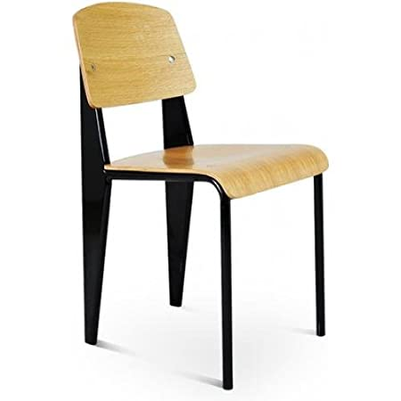 standard chair inspired by jean prouvé wood natural wood amazon