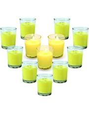 SCENTORINI Citronella Candles, Aromatherapy Soy Wax Scented Candles Gift Set, for Wedding, Outdoor/Indoor, Clear Glass