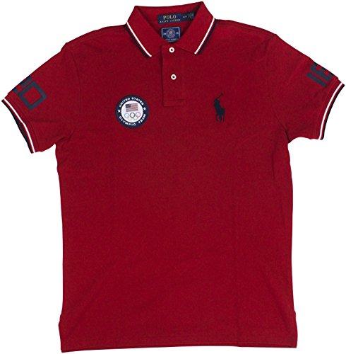 Polo Ralph Lauren Men's Team USA Custom-Fit Mesh Polo Shirt X-Large Ralph - Lauren Ralph Polo Team