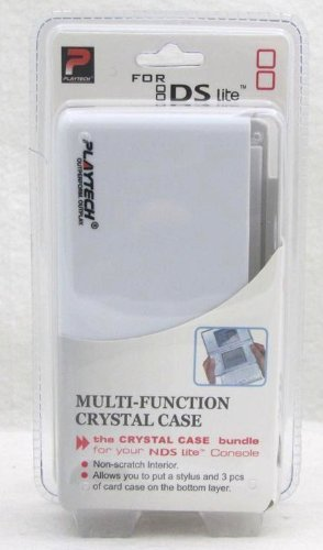 (Nintendo DS Lite Crystal Hard Carrying Travel Case Protector-WHITE )