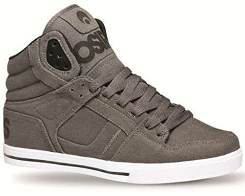 Osiris Clone Gris Negro Blanco Hombres Hi Top Skate Trainers Zapatos