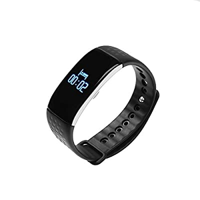 Fitness Tracker, Idealink K1 OLED Touch Screen Waterproof IP65 Bluetooth 4.0 Heart Rate Blood Oxygen Sleep Calorie Pedometer Monitoring Smart Bracelet for Android and IOS