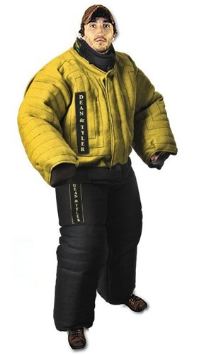 Dean and Tyler Full Protection Bite Suit, Strong French Linen - Yellow/Black - Size: X-Large (H: 5.6 to 5.10-Feet, W: 198 to 209-Pounds)