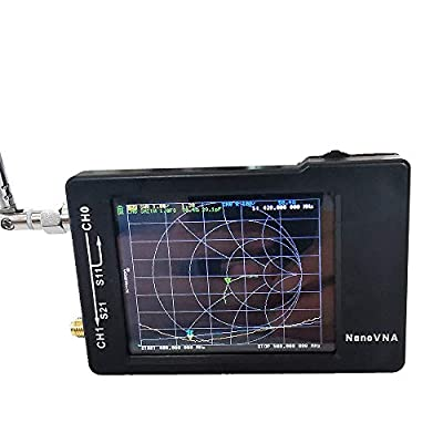 autooler NanoVNA-H Vector Network Analyzer MF HF VHF Antenna Analyzer 50Khz-900Mhz, Measuring S-Parameter Voltage Standing Wave Ratio, Phase, delay, Smith Chart
