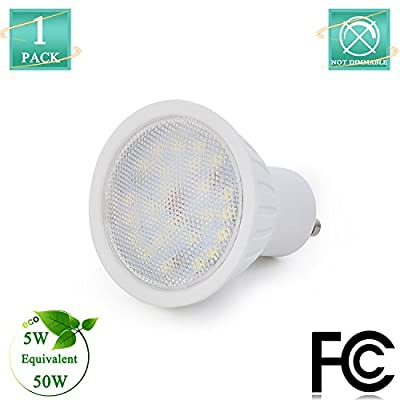 GU10 LED Spot lights for Home Lamp,IC Driver 5watt(50W Equivalent) 120Volt 500Lumen 120 Degree Beam Angle, Not Dimmable