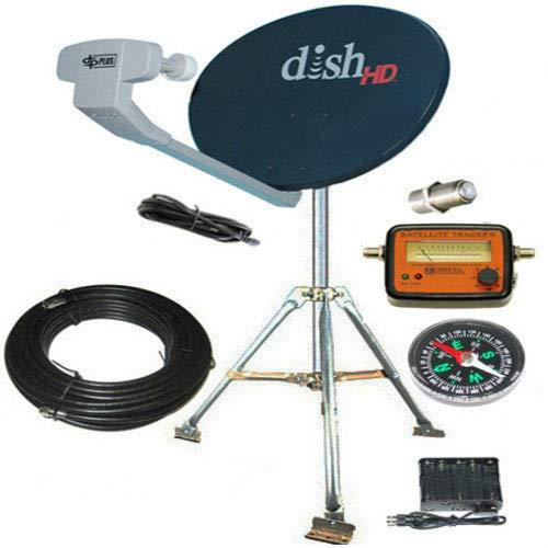 Dish Network For Rv >> Amazon Com Dish Network Hd Hybrid 1000 2 Rv Satellite Kit Portable