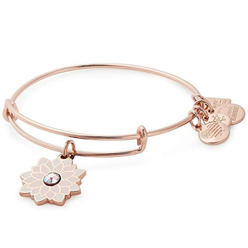 Alex and Ani Women's Charity by Design, Water Lily Bangle Shiny Rose One Size