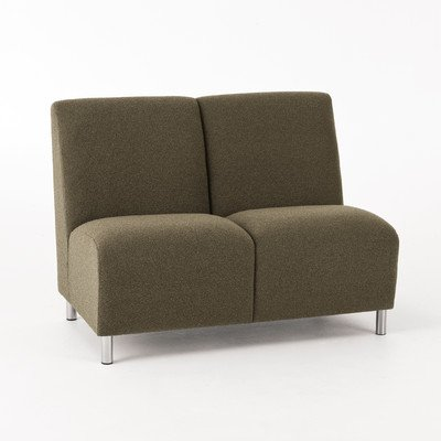 Ravenna Series Armless Sofa Finish: Cherry, Color: Interval River Fabric (Series Armless Loveseat)