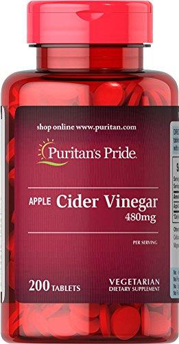 Puritan's Pride Apple Cider Vinegar 480 mg-200 (200 Apple)